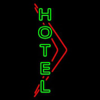 Green Hotel Neon Sign
